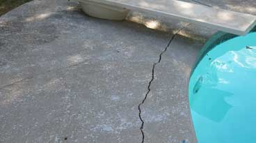 POOL DECK CRACK REPAIR